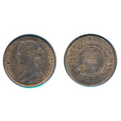ONE CENT. 1861. PCGS graded Mint State-64. Red-Brown. 40% red luster. Very clean cheek and fields.