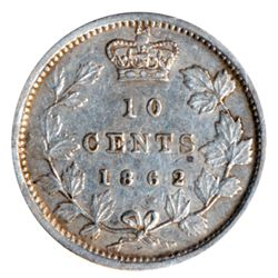 TEN CENTS. 1862. ICCS Very Fine-30. Very light toning.