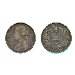 ONE CENT. 1862. PCGS graded Very Fine-30. A brown example of the 'key' date.