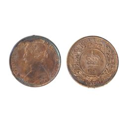 ONE CENT. 1864. ICCS Mint State-63. Red and Brown. 50% luster on reverse, with 30% luster remaining