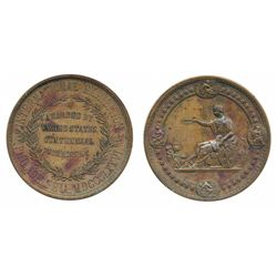 USA: International Exhibition Philadelphia 1876 (official award) / seated allegorical figure offers