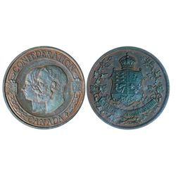 Canada Confederation. 1867-1927. Obv: Conjoined busts of Queen Victoria and George V, left. Rev. : C