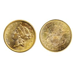 $20.00 Gold. 1876-S. Liberty Head. AU.