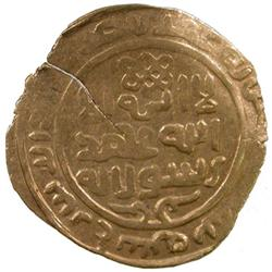 GREAT MONGOLS: Chingiz Khan, 1206-1227, AV dinar (3.92g), Shum, AH630