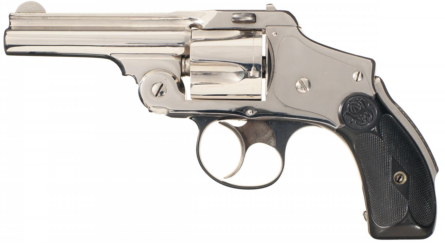 Serial Number 6 Smith & Wesson New Departure 38 Safety Hammerless (1st  Model) Double Action Revolver
