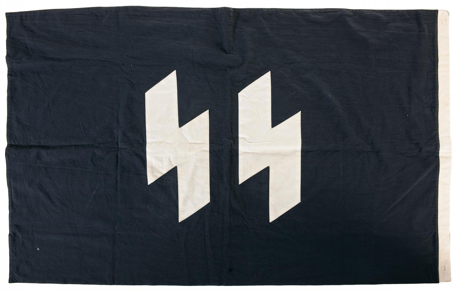 WWII Nazi Reichsfuhrer-SS Command Flag Dated 1943