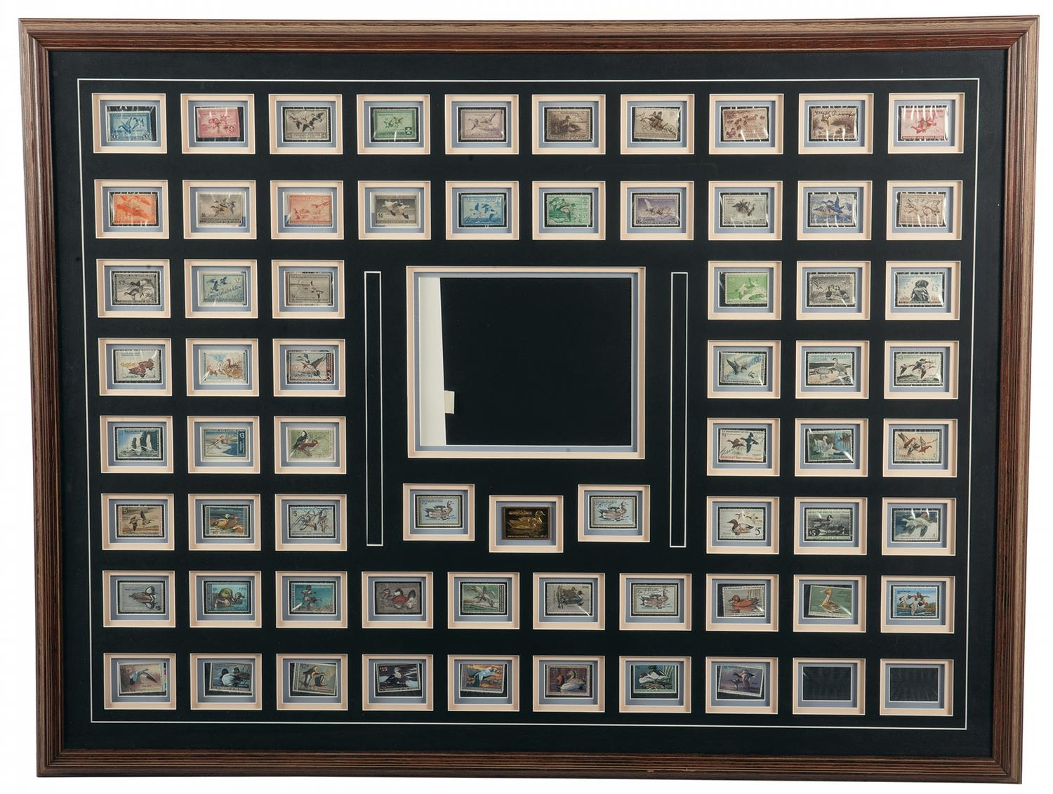 Image 1 50th Anniversary Collection Of Federal Duck Stamps In Display Frame