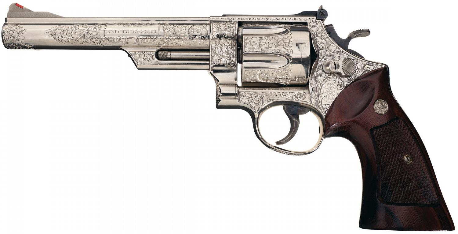 Engraved Smith & Wesson Model 29-2 Double Action Revolver