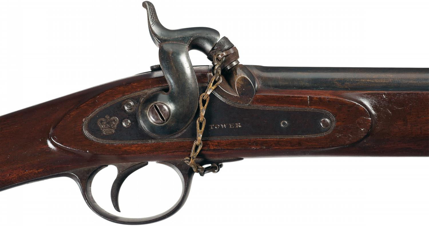 Enfield-Pattern Two Band Tower Percussion Rifle