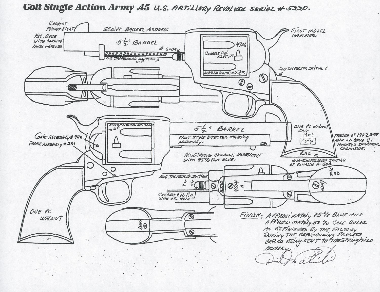 Colt Model 1873 Artillery Model Single Action Revolver in