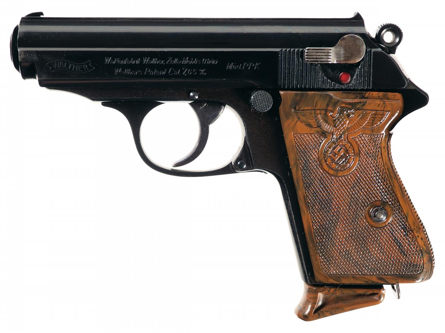 Excellent Walther PPK Semi-Automatic Pistol with Party Leader Grips and  Holster