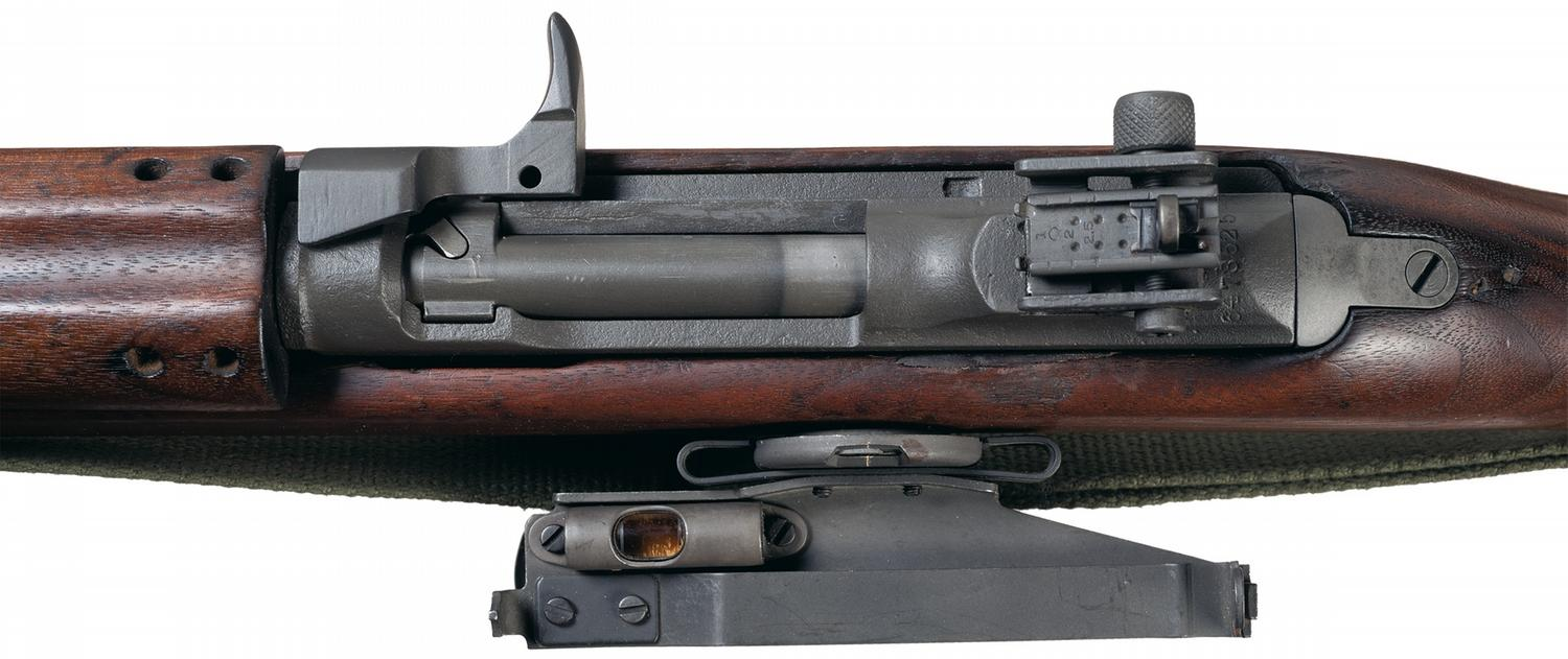 Winchester M1 Carbine With Side Mounted M15 Marked Grenade Launcher