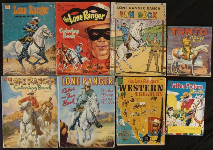 Lone Ranger Activitiy & Coloring Book Vintage Lot 8