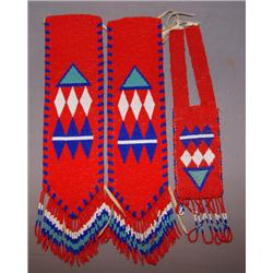 PLAINS BEADED ARM GUARDS AND NECKLACE