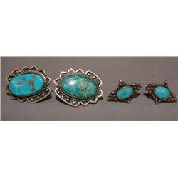 TWO PAIR OF NAVAJO EARRINGS
