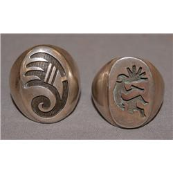 TWO HOPI RINGS