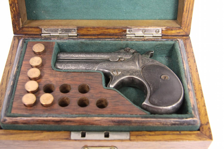 19TH CENTURY GAMBLER'S KIT WITH REMINGTON PISTOL