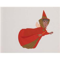 Original production cel of Flora from Sleeping Beauty