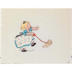 Original production cel of girl doll from Disney's Broken Toys