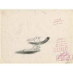 Chuck Jones Bugs Bunny production drawing from Hare-Breadth Hurry