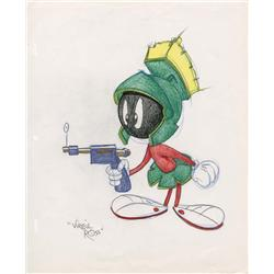 Marvin Martian original Virgil Ross drawing