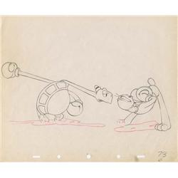 Toby Tortoise Returns original production drawing of Toby and Max with audience color model