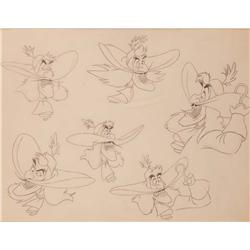 Peter Pan Captain Hook model drawing for expressions
