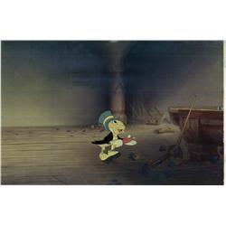 Jiminy Cricket original production cel from Pinocchio