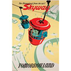 Disneyland Skyway attraction poster 1957