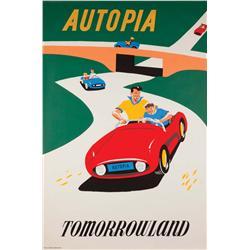 Disneyland Autopia attraction poster