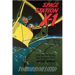 Disneyland Spacestation X-1 attraction poster