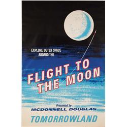 Flight to the Moon attraction poster Disneyland
