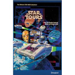 Star Tours attraction poster for Disneyland