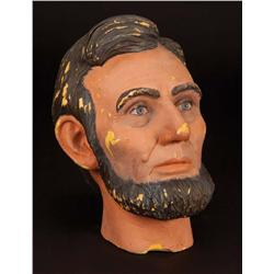 """Lincoln prototype Blaine Gibson bust for Disneyland """"Great Moments w/ Mr. Lincoln"""" attraction"""