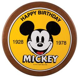 Sign from Disneyland celebrating Mickey Mouse 50th birthday in 1978