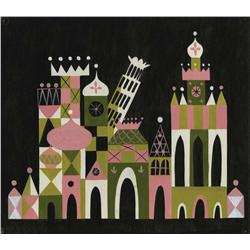 """Mary Blair original """"It's a Small World"""" concept painting"""