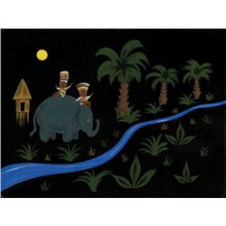 Mary Blair original concept painting of It's a Small World ride