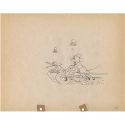 The Dognapper original production drawing of Mickey and Donald