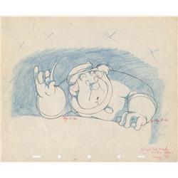 Pinocchio original production drawing of Coachman