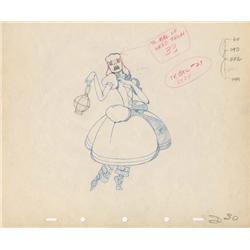 Katharine Hepburn original production drawing from Mother Goose Goes Hollywood