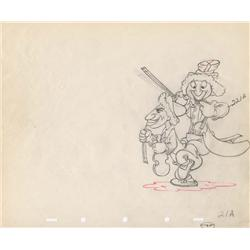 Marx Bros. pair of original production drawings from Mother Goose Goes Hollywood