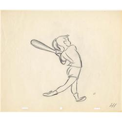Pair of Fred Moore rough animation drawings from Casey Bats Again