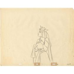Original production drawings of the Queen from Sleeping Beauty