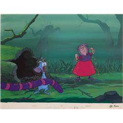 Madam Mim and Merlin on production background from The Sword in the Stone