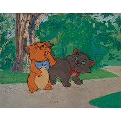 Original production cel of Toulouse and Berlioz from The Aristocats