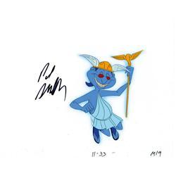 """Paul Shaffer """"Hermes"""" signed cel from Hercules"""