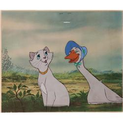 Original production cel of Duchess and Amanda from The Aristocats