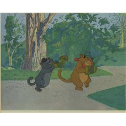 Original production cel of Scat Cat and Peppo from The Aristocats