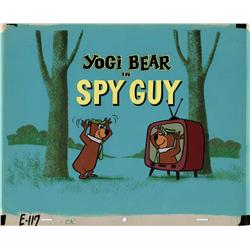 """Yogi Bear Episode Title Card from the episode """"Spy Guy"""""""