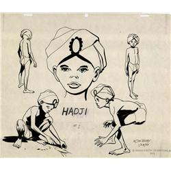 Doug Wildey original Hadji model sheet from Jonny Quest